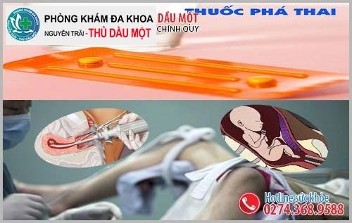 Phương pháp phá thai an toàn Đa Khoa Thủ Đầu Một đang áp dụng