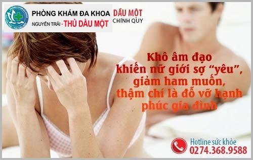 Tác hại của tình trạng khô âm đạo ở nữ giới