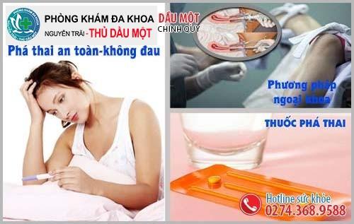 Phương pháp phá thai an toàn tại Đa Khoa Thủ Dầu Một