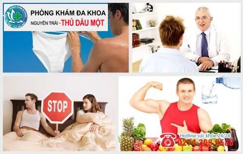 Những điều cần lưu ý khi hỗ trợ trị viêm nhiễm sinh dục nam