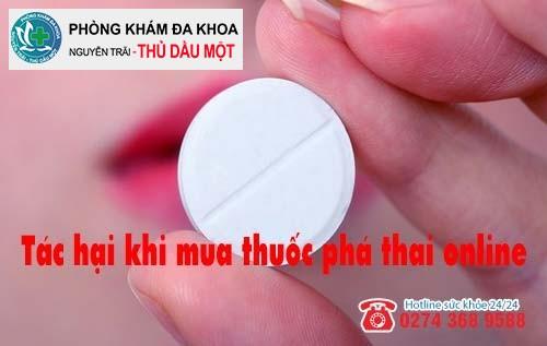Tác hại khi mua thuốc phá thai online