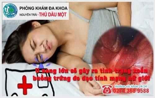 Tác hại u nang buồng trứng đối với sức khỏe nữ giới